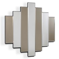 7 Piece Bronze Silver Mirror